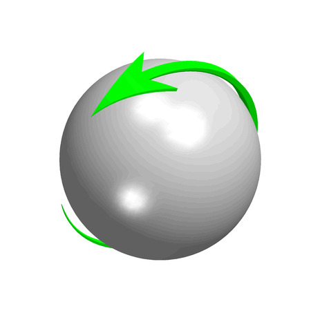 perpective: Vector sphere arrow