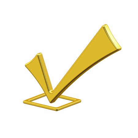 Gold icon check photo