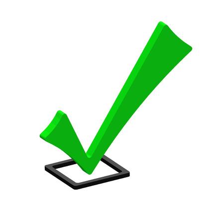 Green icon check photo