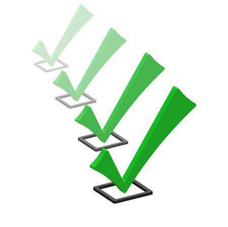 confirm: Green icon check