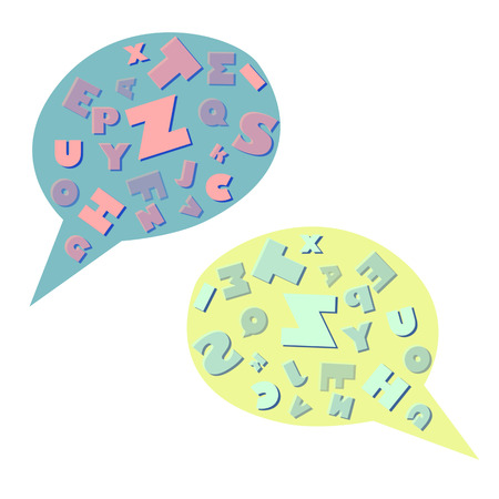 chat room: vector talk Stock Photo