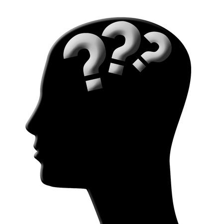 seach: head silhouette Stock Photo