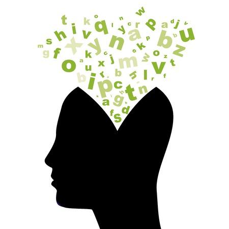 beautyful: head silhouette Stock Photo