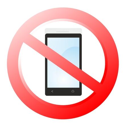 interdiction telephone: t�l�phone cellulaire d'interdiction Banque d'images