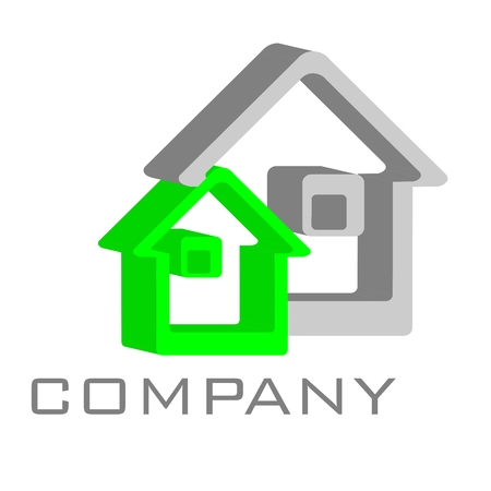 modern house: logo house Stock Photo