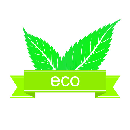 this is green ecology sticker Illustration