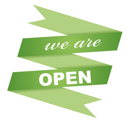 shopsign: this is sticker we are open