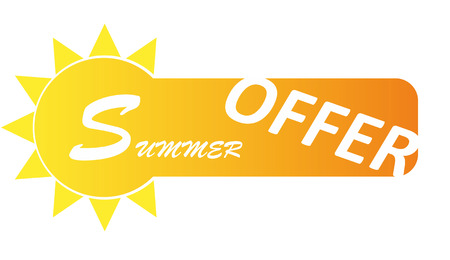 pricetag: this is banner summer offer