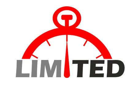this is red icon  limited Illusztráció