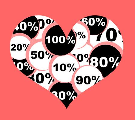 hintergrund liebe: Das ist Liebe Hintergrund Shopping Illustration