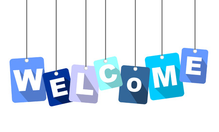 this is blue illustration welcome Illustration