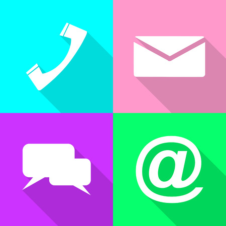 This is set communication icons