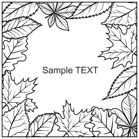 leafs: This is illustration frame of leafs