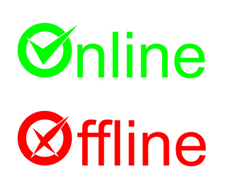 offline: These are two signs online offline