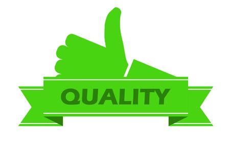 control de calidad: Esta es verde pegatina de calidad Vectores
