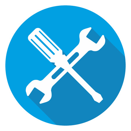 This is blue repair icon Vector