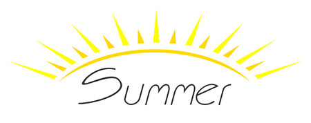 This is easy summer icon Vector