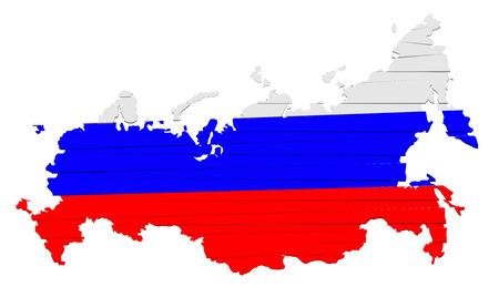 Dit is moderne kaart rusland Stock Illustratie