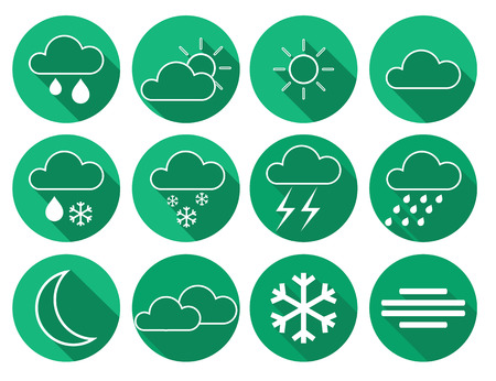 This is set weather icons Vector