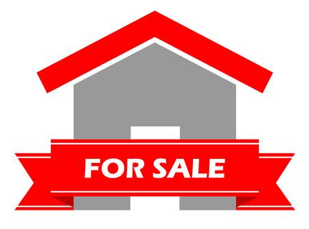 Dit is icoon huis te koop Stock Illustratie