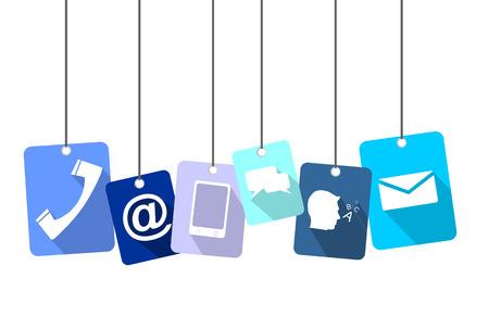 This is blue tag communication Illusztráció