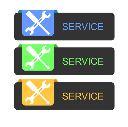 These buttons are service three colors