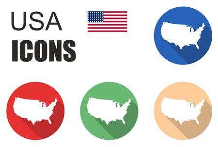 fiambres: Esto se establece iconos america Vectores