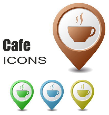map pointers: This is set cafe map pointers
