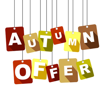 This is tag autumn offer Illustration
