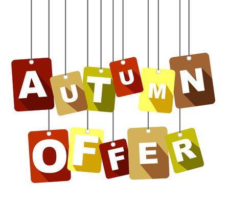 This is tag autumn offer Illusztráció