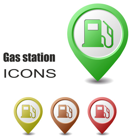 map pointers: This is set gas station map pointers