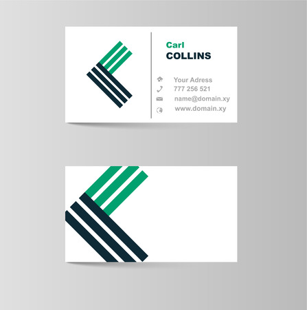 light duty: This is business card for letter c