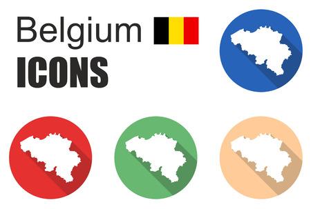 belgium flag: This is set flat icons belgium