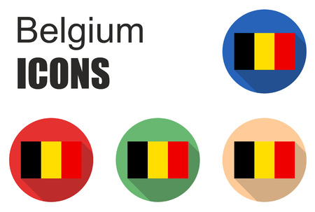 fiambres: This is set flat icons belgium