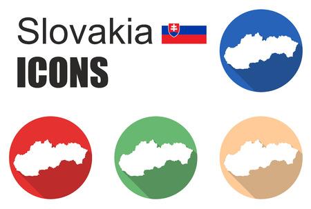 fiambres: Esto se establece plana iconos eslovaquia