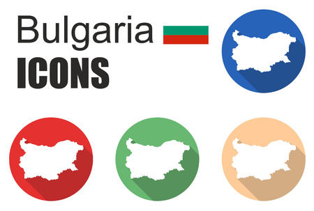 cold pack: This is set flat icons bulgaria
