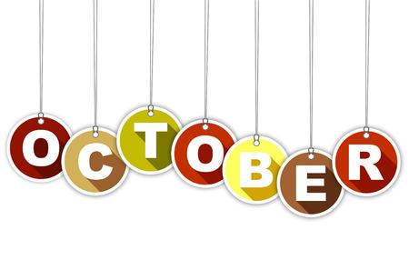 This is tag month october Ilustração