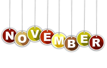 Este es el mes de noviembre de etiquetas