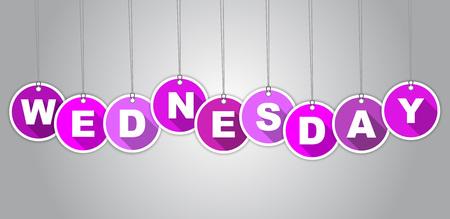 typography signature: Esta es la etiqueta p�rpura Mi�rcoles