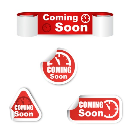 This is set of coming soon sticker