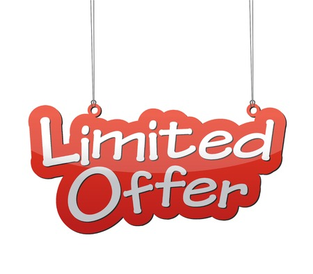 limited: This is background limited offer Illustration