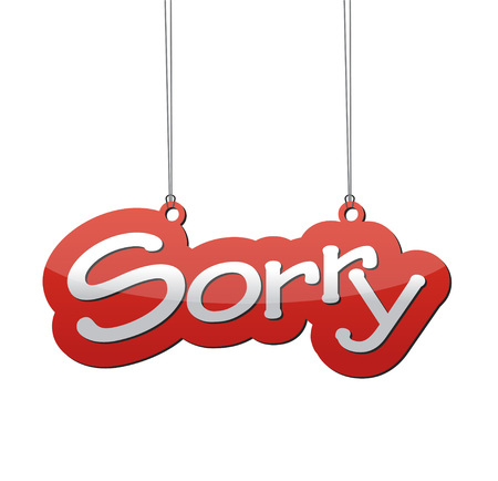 sorry: This is red background sorry