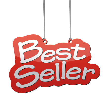 the seller: THis is best seller background Illustration