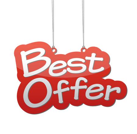 vendedor: Esta es la mejor oferta backgound Vectores