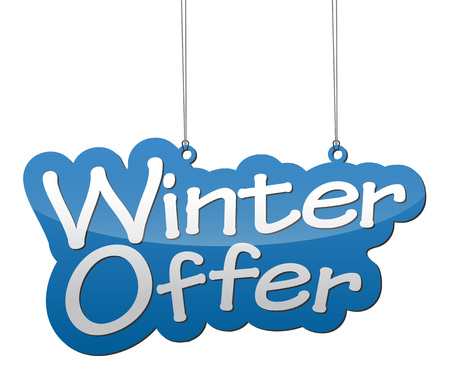 discount banner: This is background winter offer Illustration