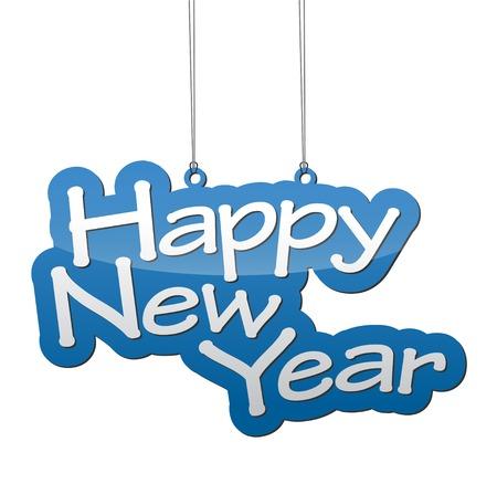 Dit is de achtergrond Gelukkig Nieuwjaar Stock Illustratie