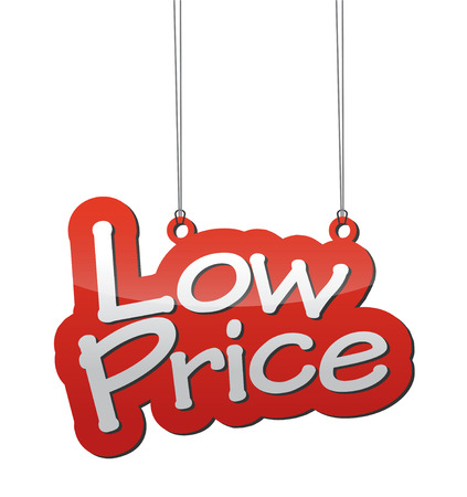 low price: This is red background low price
