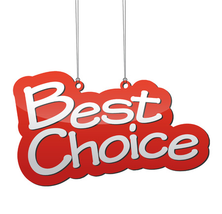 choice: This si red background best choice Illustration