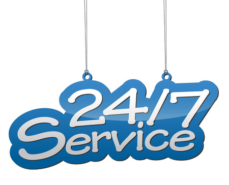 This is blue background service
