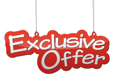 offer icon: This is background exclusive offer